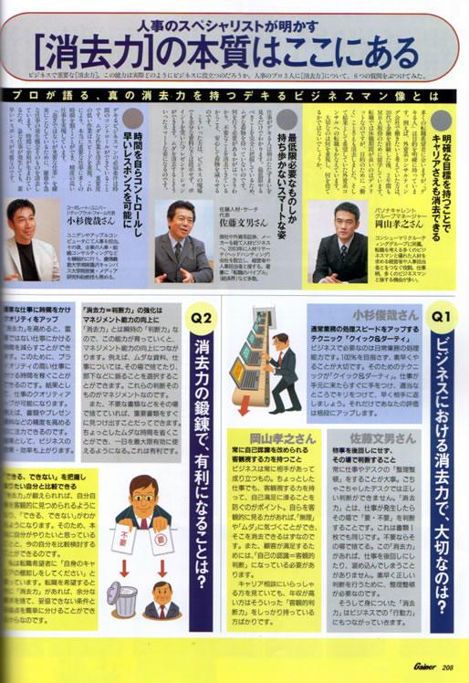 2005年9月10日発売号 Gainer(光文社) 掲載記事