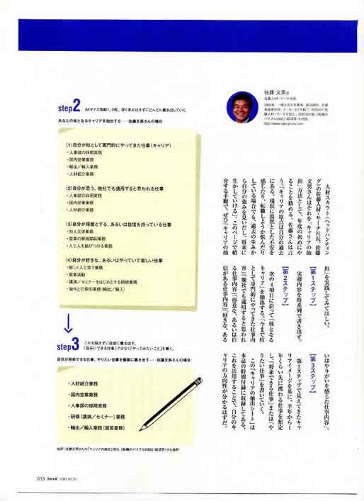 2007年3月13日発売号 日経ビジネスアソシエ臨時増刊「成功するキャリアの作り方2007」(日経BP社) 掲載記事