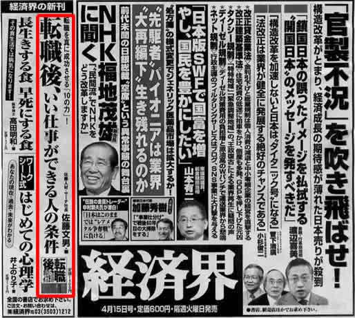 2008年4月1日発刊号  産経新聞 掲載記事